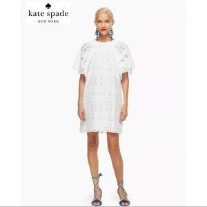 KATE SPADE ♠️ Eyelet Cotton Shift Dress XL NWT